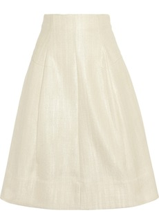 Marni Cotton-blend sateen A-line skirt