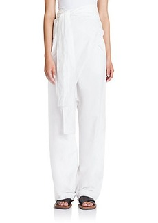 Marni Cotton Wrap-Front Pants