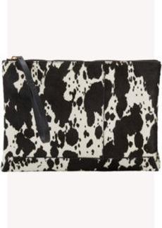 Marni Cow-Pattern Haircalf Clutch