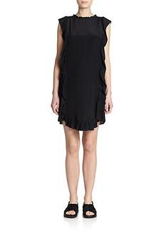 Marni Crepe Ruffle Dress
