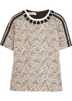 Marni Crystal-embellished jacquard top