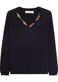 Marni Crystal-embellished wool sweater