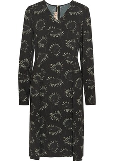 Marni Dandelion-print crepe dress