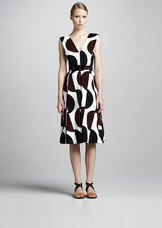 Marni Dot-Print Tea-Length Dress