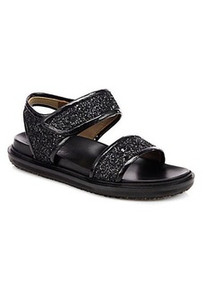 Marni Double-Band Glitter Sandals