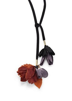 Marni Dual-Flower Fabric Necklace