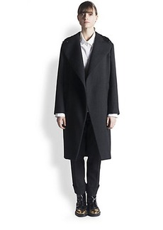 Marni Embellished-Collar Wool Coat
