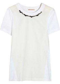 Marni Embellished cotton-jersey T-shirt