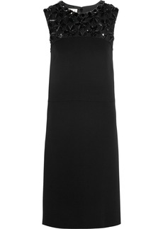Marni Embellished crepe shift dress