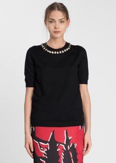 Marni Embellished Neck Cashmere Sweater