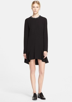 Marni Embellished Neck High/Low Dress