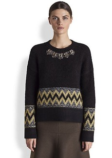 Marni Embroidered Crewneck Sweater