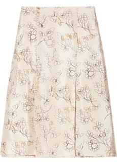 Marni Embroidered metallic woven skirt