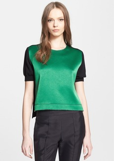 Marni Embroidered Satin Front Colorblock Knit Top