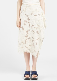 Marni Faux Wrap Lace Midi Skirt