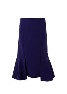 Marni Fishtail wool-crepe skirt