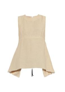 Marni Flared linen-blend top