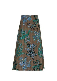 Marni Fleuri Scroll-print midi skirt