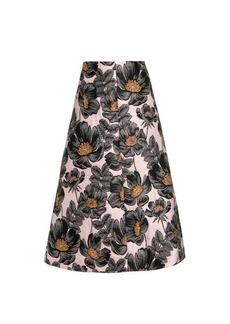 Marni Floral-jacquard A-line skirt