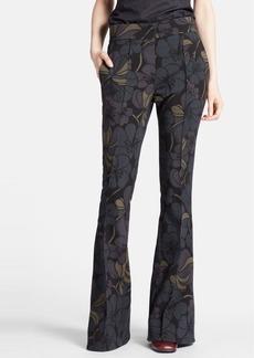 Marni Floral Print Bell Bottom Pants