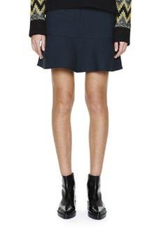 Marni Flounce-Hem Stretch-Wool Skirt
