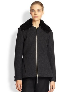 Marni Fur-Collar Wool-Blend Jacket