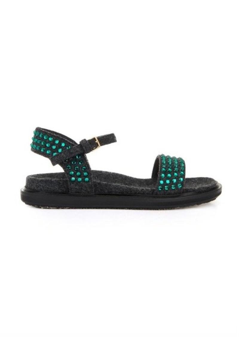 Marni Marni Fussbett embellished felt sandals | Shoes - Shop It To Me