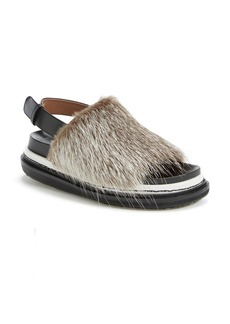 Marni 'Fussbett' Genuine Nutria Fur Sandal (Women)