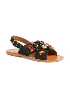 Marni 'Fussbett' Jeweled Sandal (Women)