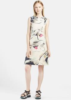 Marni Garden Print Cotton Linen Dress