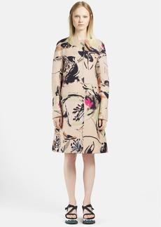 Marni Garden Print Long Cotton Coat