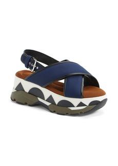 Marni Geometric Print Platform Sandal (Women)