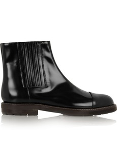 Marni Glossed-leather ankle boots