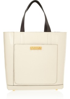 Marni Glossed textured-leather tote