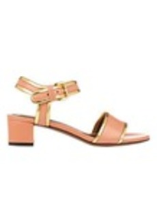 Marni Gold-Trim Ankle-Strap Sandals