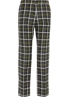 Marni Graphic Lines cotton-blend straight-leg pants