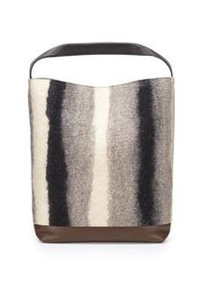 Marni Heavy Stripe Combo Shoulder Strap, Gray/Gold
