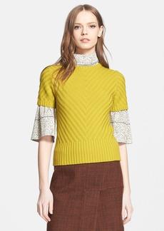 Marni Herringbone Stitch Virgin Wool Sweater
