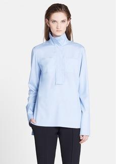 Marni High Neck Silk Twill Shirt