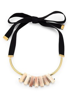 Marni Horn Ribbon Necklace