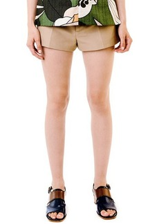 Marni Khaki Button-Front Shorts