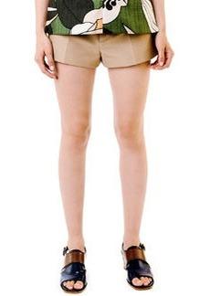 Marni Khaki Button-Front Shorts