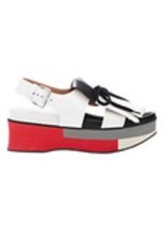Marni Kiltie Double-Strap Platform Sandals