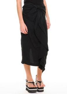 Marni Knotted Cascade-Ruffle Skirt