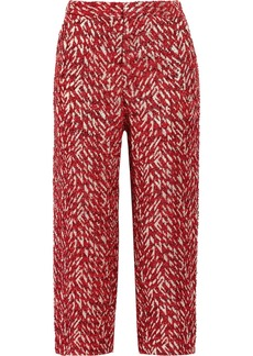 Marni Lamé-tweed straight-leg pants
