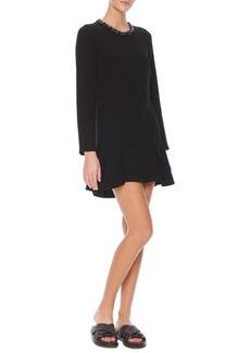 Marni Long-Sleeve Jewel-Neck Dress, Coal Black