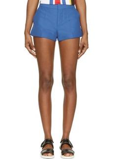 Marni Mazarine Blue Cotton Shorts