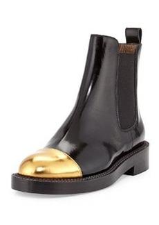 Marni Metallic Cap-Toe Ankle Boot