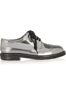 Marni Metallic leather brogues