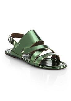 Marni Metallic Leather Multi-Strap Sandals